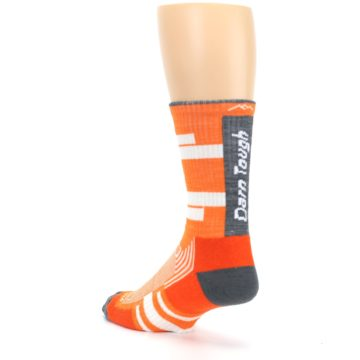 Image of Gray Orange Men's Running Endurance Crew Socks (side-2-back-15)