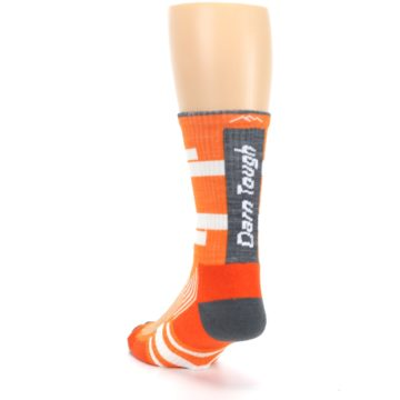 Image of Gray Orange Men's Running Endurance Crew Socks (side-2-back-16)
