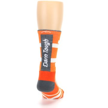 Image of Gray Orange Men's Running Endurance Crew Socks (back-19)