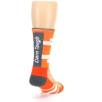 Image of Gray Orange Men's Running Endurance Crew Socks (side-1-back-20)