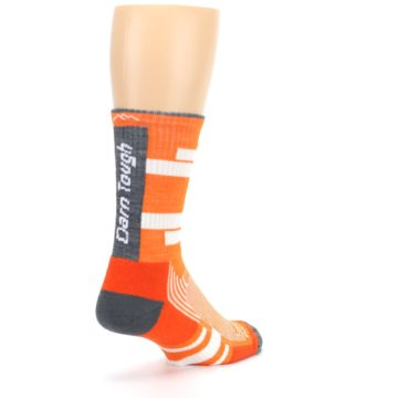 Image of Gray Orange Men's Running Endurance Crew Socks (side-1-back-21)