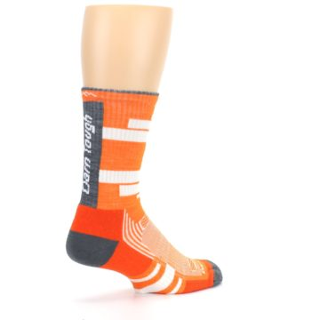 Image of Gray Orange Men's Running Endurance Crew Socks (side-1-back-22)