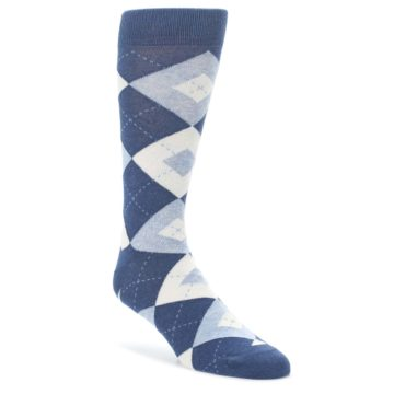 Heathered Navy Groomsmen Wedding Argyle Socks
