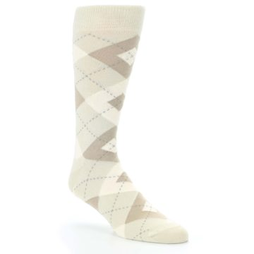 Champagne Argyle Dress Socks