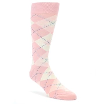 Blush-Bellini-Ballet-Pink-Argyle-Mens-Dress-Socks-Statement-Sockwear