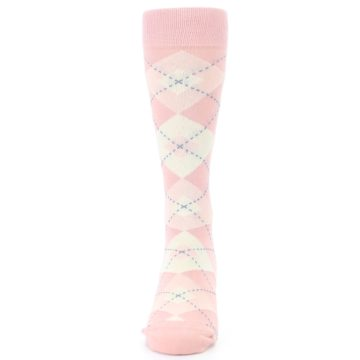 Image of Blush Bellini Ballet Pink Argyle Men's Dress Socks (front-05)
