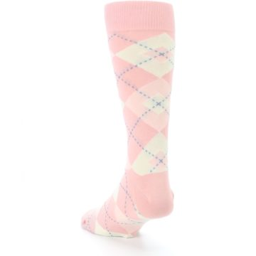 Image of Blush Bellini Ballet Pink Argyle Men's Dress Socks (side-2-back-16)