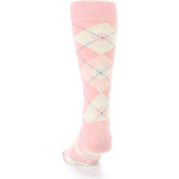 Image of Blush Bellini Ballet Pink Argyle Men's Dress Socks (back-17)
