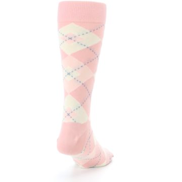 Image of Blush Bellini Ballet Pink Argyle Men's Dress Socks (side-1-back-20)