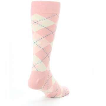 Image of Blush Bellini Ballet Pink Argyle Men's Dress Socks (side-1-back-21)