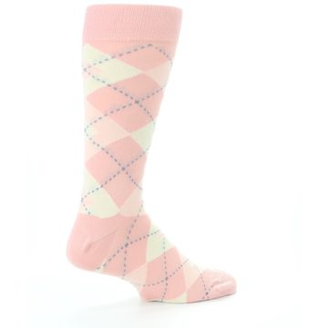 Image of Blush Bellini Ballet Pink Argyle Men's Dress Socks (side-1-23)