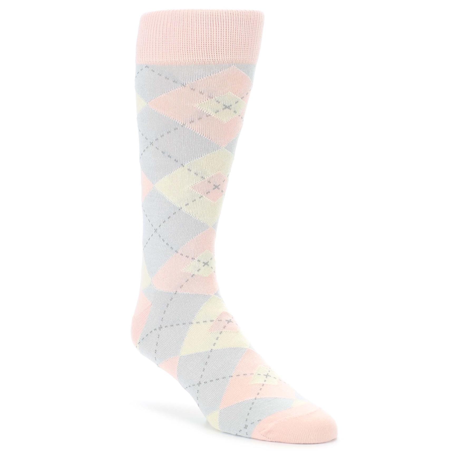 90052e5b51b8 Blush Pink Argyle Wedding Groomsmen Socks. Image of Blush Pink Gray Argyle  Wedding Groomsmen Men's Dress ...