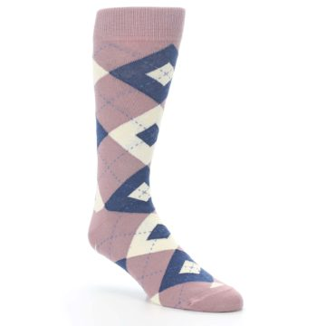 Desert rose argyle socks