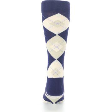 Image of Lapis Purple Champagne Argyle Men's Dress Socks (back-18)