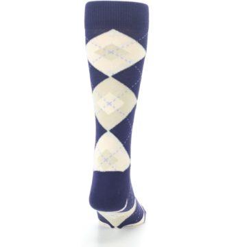 Image of Lapis Purple Champagne Argyle Men's Dress Socks (back-19)