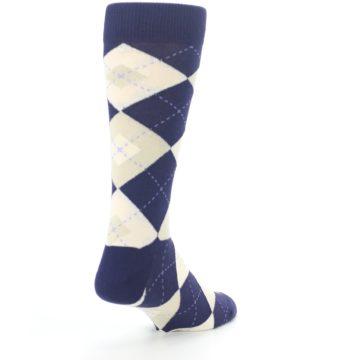 Image of Lapis Purple Champagne Argyle Men's Dress Socks (side-1-back-21)