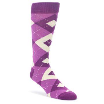 Raspberry-Argyle-Mens-Dress-Socks-Statement-Sockwear