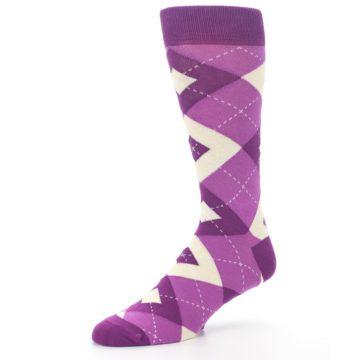 Image of Raspberry Argyle Men's Dress Socks (side-2-09)