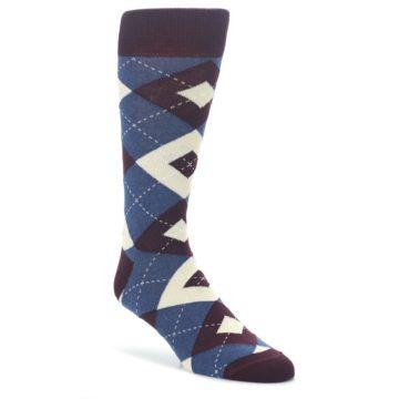 Bordeaux-Champagne-Navy-Argyle-Mens-Dress-Socks-Statement-Sockwear