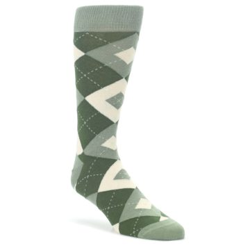 Olive-Green-Argyle-Mens-Dress-Socks-Statement-Sockwear