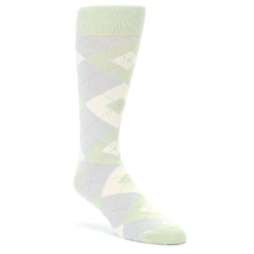 Sage-Meadow-Gray-Argyle-Mens-Dress-Socks-Statement-Sockwear