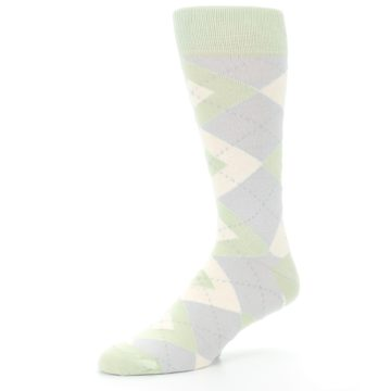 Image of Sage Meadow Gray Argyle Men's Dress Socks (side-2-09)