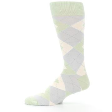 Image of Sage Meadow Gray Argyle Men's Dress Socks (side-2-11)