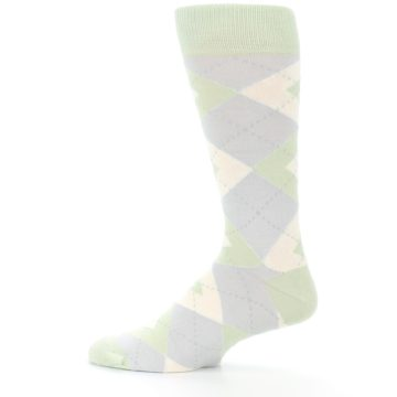 Image of Sage Meadow Gray Argyle Men's Dress Socks (side-2-12)
