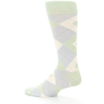 Image of Sage Meadow Gray Argyle Men's Dress Socks (side-2-13)