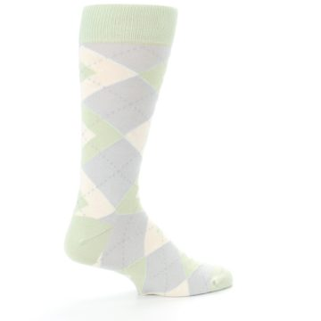 Image of Sage Meadow Gray Argyle Men's Dress Socks (side-1-23)