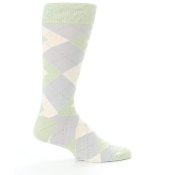 Image of Sage Meadow Gray Argyle Men's Dress Socks (side-1-24)