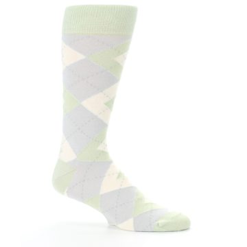 Image of Sage Meadow Gray Argyle Men's Dress Socks (side-1-25)