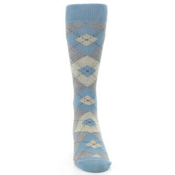 Image of Slate Gray Argyle Men's Dress Socks (front-04)