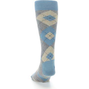 Image of Slate Gray Argyle Men's Dress Socks (back-17)