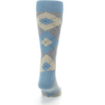 Image of Slate Gray Argyle Men's Dress Socks (back-19)