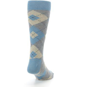 Image of Slate Gray Argyle Men's Dress Socks (side-1-back-20)