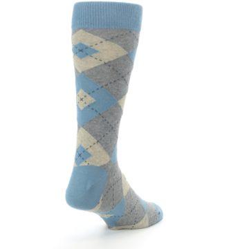 Image of Slate Gray Argyle Men's Dress Socks (side-1-back-21)
