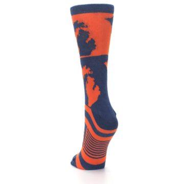 Image of Navy Orange Michigan Women's Dress Socks (back-17)
