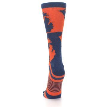 Image of Navy Orange Michigan Women's Dress Socks (back-18)