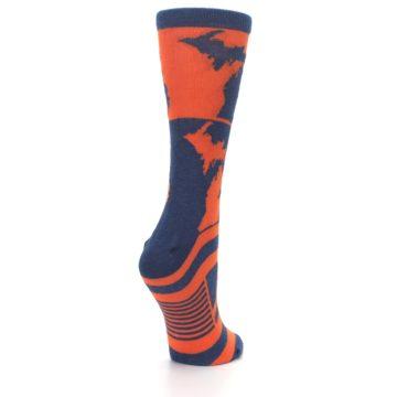 Image of Navy Orange Michigan Women's Dress Socks (side-1-back-22)