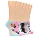 Image of Forest Critter Animals Women's Ankle Sock 6 Pairs (side-2-front-07)