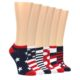 Image of Stars and Stripes Women's Ankle Sock 6 Pairs (side-2-front-07)