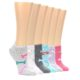 Image of Dogs Bark and Bones Women's Ankle Sock 6 Pairs (side-2-front-07)