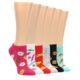 Image of Junk Foodie Women's Ankle Sock 6 Pairs (side-2-front-07)