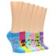 Image of Tropical Fun in the Sun Women's Ankle Sock 6 Pairs (side-2-front-07)