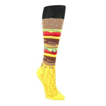 Burger-and-Fries-Womens-Knee-High-Socks-K-Bell-Socks