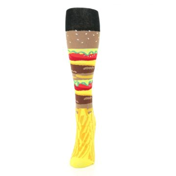 Image of Burger and Fries Women's Knee High Socks (side-2-front-06)