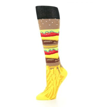 Image of Burger and Fries Women's Knee High Socks (side-2-10)