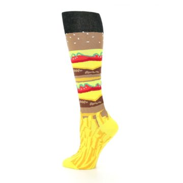 Image of Burger and Fries Women's Knee High Socks (side-2-13)