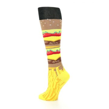 Image of Burger and Fries Women's Knee High Socks (side-2-back-14)